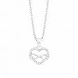 s.Oliver Damen Kette 2012604 Silber Herz Unendlichkeit Infinity Liebe