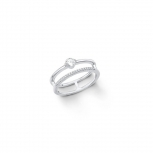 s.Oliver Damenring 2012607 Silber Stern Ring Gr.54