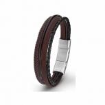 s.Oliver Herren Armband 2015059 Leder Schwarz Lederarmband Herrenarmband
