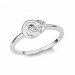 s.Oliver Damenring 2017189 Silber Fingerring Gr.52 Damen Knoten Ring