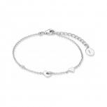 s.Oliver Damen Armband 2017226 Silber Armkette Herz 16 + 3 cm