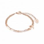 s.Oliver Damen Armband 2018350 Damenarmband Armkette Rose Anker