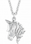 s.Oliver Damen Kette 2018520 Silber Collier Halskette Einhorn Pferd Pony