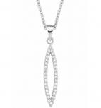 s.Oliver Damen Kette 2018624 Silber Collier Halskette