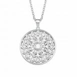 s.Oliver Damen Kette 2021018 Silber Collier Halskette Blume Halsschmuck