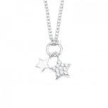 s.Oliver Damen Kette 2022697 Mädchen Halskette Stern Silber Damenkette