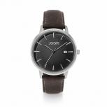 Joop Herrenuhr 2022844 elegante Armbanduhr Uhr Silber Leder