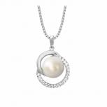 Joop Damen Kette 2023380 Halskette mit Anhänger Silber Halsschmuck Perle