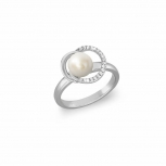 Joop Damenring 2023382 Ring Silber Fingerring Schmuckring Gr. 54 Perle