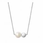 Joop Damen Kette 2023391 Halskette mit Anhänger Silber Halsschmuck Perle