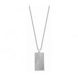 Joop Herren Kette 2023416 Halskette DogTag Kette mit Anhänger Silber