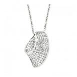Joop Damen Kette 2023493 Halskette mit Anhänger Silber Halsschmuck Steine