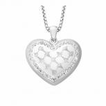 Joop Damen Kette 2023539 Halskette mit Anhänger Silber Halsschmuck Herz