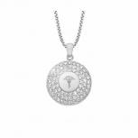 Joop Damen Kette 2023551 Halskette mit Anhänger Silber Halsschmuck Steine