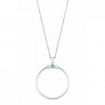 s.Oliver Damen Kette 2024295 Silber Kreis Halskette Halsschmuck Lang
