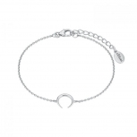 s.Oliver Damen Armband 2024312 Silber Armkette Schmuckarmband Mond Büffelhorn