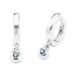 s.Oliver Ohringe 2027459 Scharnier Creolen blau Damenohrringe Ohrhänger Silber 925