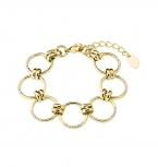 s.Oliver Damen Armband 2027627 IP Gold Armkette 18 cm Armschmuck