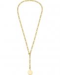 s.Oliver Damen Kette 2028468 Halskette IP Gold Y-Kette