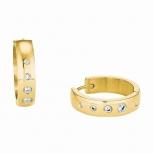 s.Oliver Ohrringe 2028477 Scharnier Creolen IP Gold Damenohrringe
