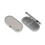 2150 Pillenbox Pillendose Tablettendose Tablettenbox Silber Medikamente