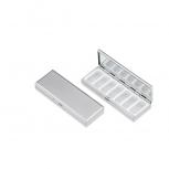 2223-ver Pillenbox Pillendose Tablettendose Tablettenbox Silber Medikamente
