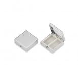 2225-ver Pillenbox Pillendose Tablettendose Tablettenbox Silber Medikamente