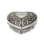 2254-ver Schmuckdose antik Herz Silber Dose Schmuckkästchen