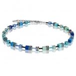 COEUR-DE-LION Damen Kette 2838100705 Halskette blau grün Schmuckkette