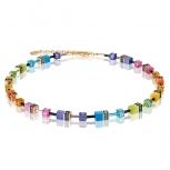 COEUR-DE-LION Damen Kette 2838101573 Halskette Multicolor Rainbow Gold
