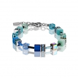 COEUR-DE-LION Damen Armband 2838300705 Armkette blau-grün Schmuckarmband