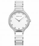 Bering Damenuhr 30434-754 Ceramic Weiß Uhr Silber
