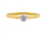 Damenring 3866 Antragsring Verlobungsring echt Gold 333 Ring Solitär Gr.54
