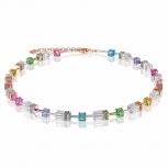 COEUR-DE-LION Damen Kette 4022101500 Halskette Multicolor-Kristall GeoCUBE