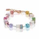 COEUR-DE-LION Damen Armband 4022301500 Armkette GeoCUBE Multicolor-Kristall