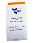 Silbo Schmuckpflege 4042698004577 Gold Hochglanztuch Anlaufschutz Politur orange