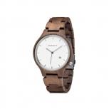 Kerbholz Damenuhr 4251240401164 Lamprecht Date Walnuss Holz Holzuhr Uhr