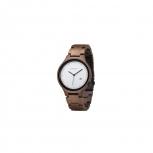 Kerbholz Damenuhr 4251240401171 Lamprecht Date Walnuss Holz Holzuhr Uhr