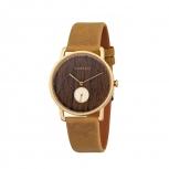Kerbholz Damenuhr 4251240404165 FRIDA WALNUSS - SENF Uhr Armbanduhr