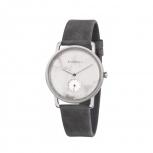 Kerbholz Damenuhr 4251240404196 FRIDA WEIßER MARMOR - ASPHALTGRAU Uhr Armbanduhr