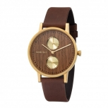 Kerbholz Damenuhr 4251240405513 Unisex Clara Armbanduhr Walnuss Uhr Holz