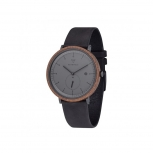 Kerbholz Herrenuhr 4251240409306 Date Holzuhr Uhr Anton WALNUT MIDNIGHT BLACK