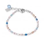 COEUR-DE-LION Damen Armband 4951302007 Armkette Kristalle aqua-blau