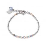 COEUR-DE-LION Damen Armband 4973300700 Armkette Kristalle Pavé blau