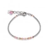 COEUR-DE-LION Damen Armband 4973301900 Armkette Kristalle Pavé rosa
