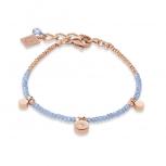 COEUR-DE-LION Damen Armband 4989300720 Armkette Coins roségold Kristalle hellblau