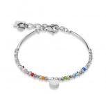 COEUR-DE-LION Damen Armband 4999301517 Armkette Kristalle multicolor