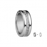 Bering Damenring Silber 2-teilig Set Arctic Symphony Collection Gr.55 K1