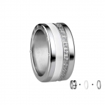 Bering Damenring Silber Ring 3-teilig Set Arctic Symphony Collection  Gr.57 I2