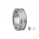 Bering Damenring Silber Ring 2-teilig Set Arctic Symphony Collection Gr.55  L1